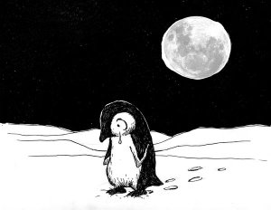 Lonely_penguin_no_1_by_Hoed